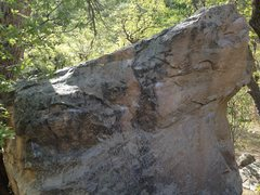 Rock Climbing Photo: An overview with the problem beginning to the far ...