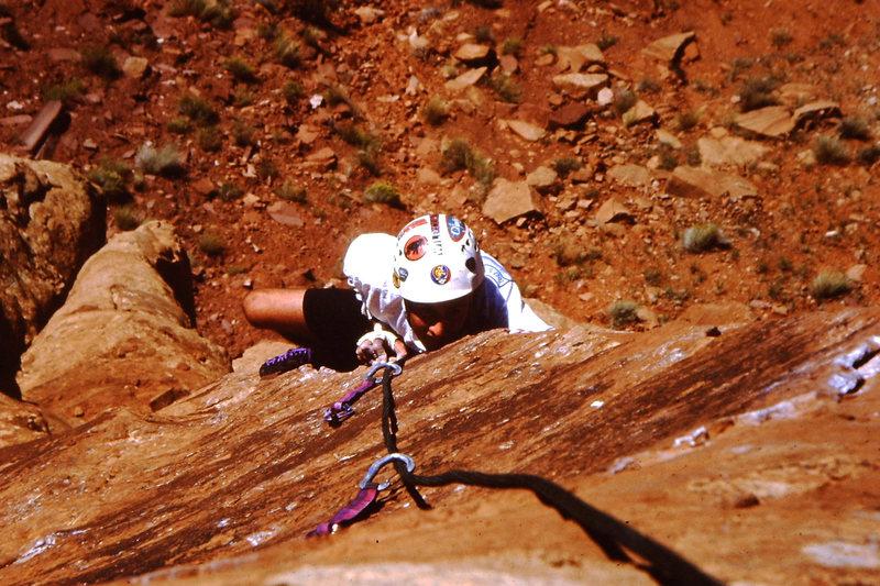 Rock Climbing Photo: Chris pulling the arete.