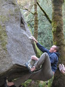 Rock Climbing Photo: Tedwards gets a crucial high foot that allows him ...
