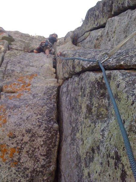 Rock Climbing Photo: Pitch 3 of the Long Climb, Tahquitz Rock