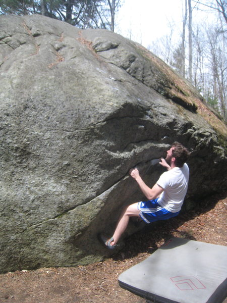 Rock Climbing Photo: The sit start of Makaia's Problem