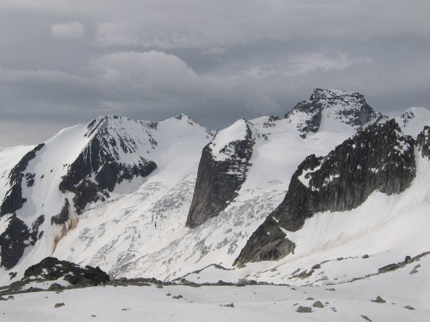 Rock Climbing Photo: bugaboos in early july