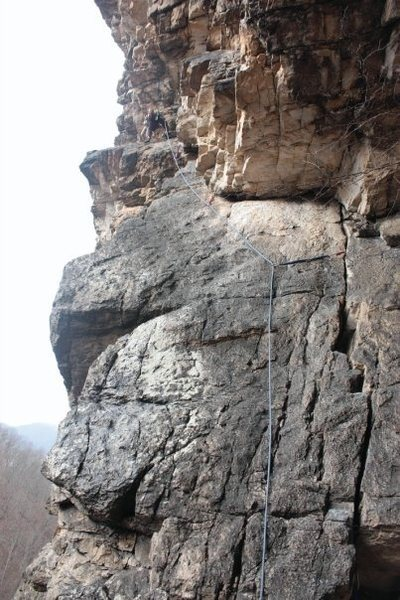 Rock Climbing Photo: second pitch of SJM