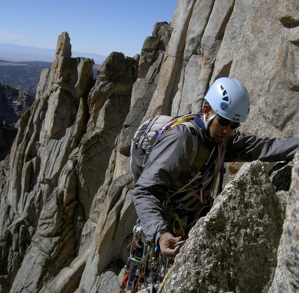 Rock Climbing Photo: Traversing among amazing scenery