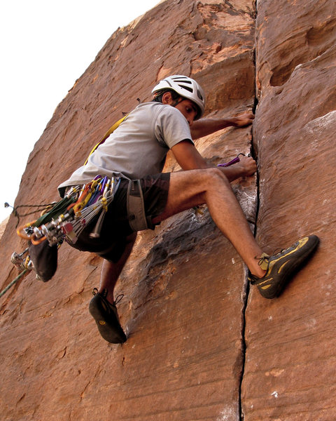 Rock Climbing Photo: Mostafa crushes.