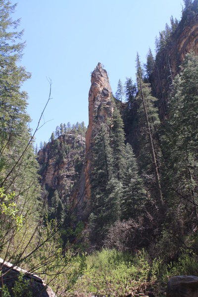 Rock Climbing Photo: The Rostrum. You can get a great view of the dihed...