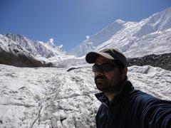 Rock Climbing Photo: Minapin Glacier - approach to Diran Advance Base C...