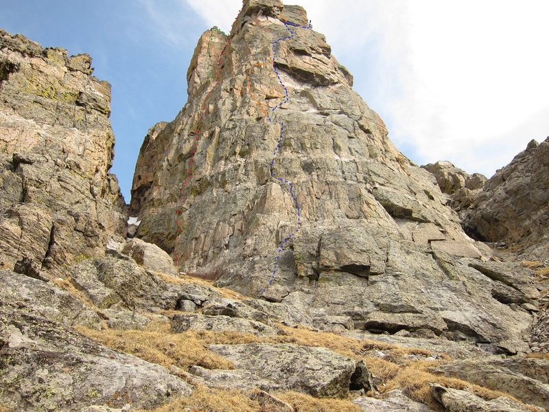 Rock Climbing Photo: Fire Tower, on the east ridge of Mt. Otis. It show...