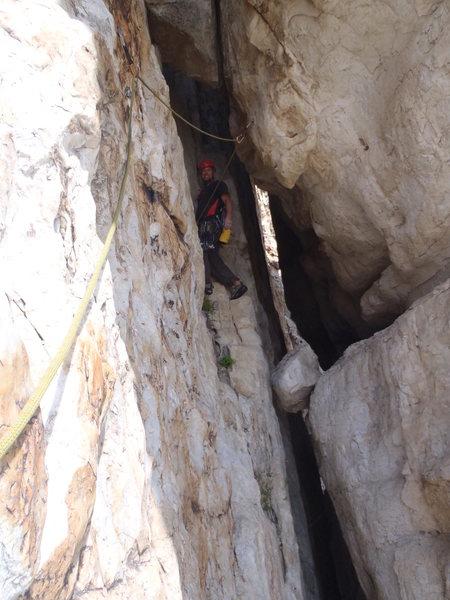 Rock Climbing Photo: Entering the Tunnel
