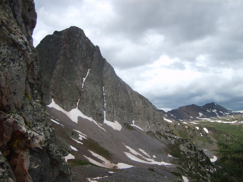 View of the ridge from north face of Silex.