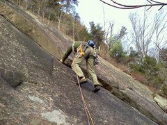 Rock Climbing Photo: Neal on the FA of Iron heel