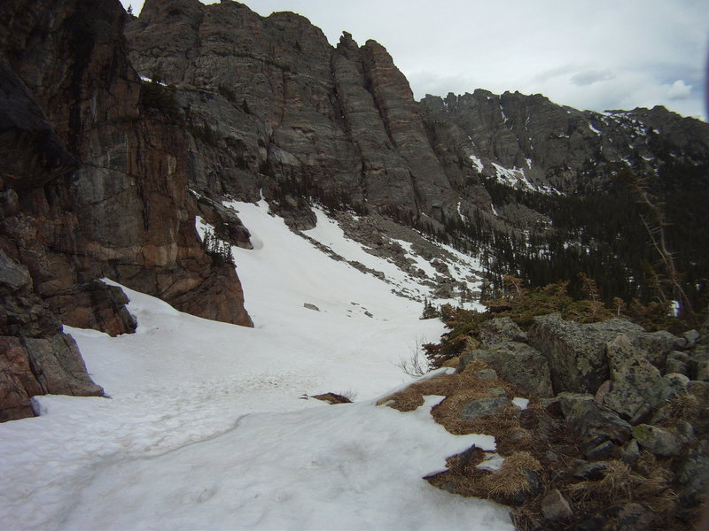 Rock Climbing Photo: Looking back down the trail from the just right of...