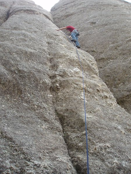 Rock Climbing Photo: I thought this was harder than Gossamer