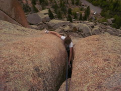 Rock Climbing Photo: Pulling over....