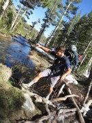 Rock Climbing Photo: Crossing the drainage west of Charlotte Lake.