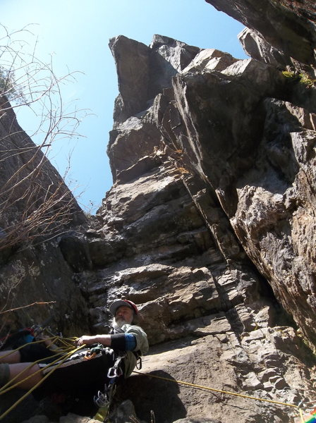 Rock Climbing Photo: Brad Hanging out at the base of Wünderkind during...