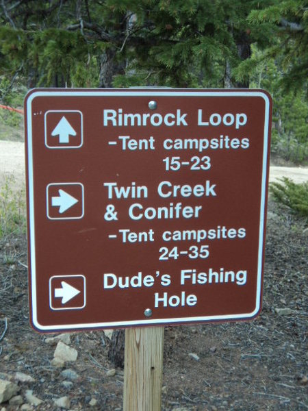 Rock Climbing Photo: Once you see this sign, you're pretty close to the...