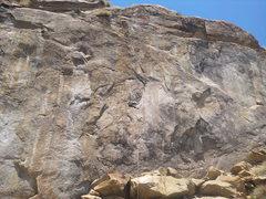 Rock Climbing Photo: Steve jugging a fixed line.