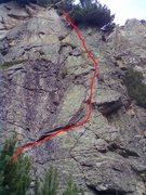 """Basta be!"".5b.First ascent 2011 Ivan Maslarov, Anastat Shipkov, Benjamen Menteshev."