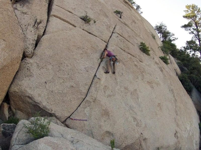 First Pitch of Original Route.