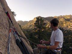Rock Climbing Photo: Second Belay, nice and spacious.