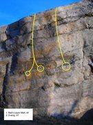 Rock Climbing Photo: Closer look at Bob's and X-wing.