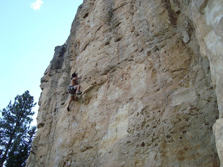 Mary Jane, 5.11b.<br> <br> The Danks, Spearfish Canyon.