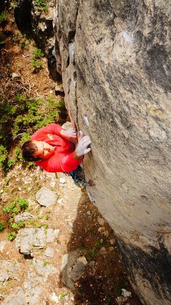Rock Climbing Photo: Dave Lewis sampling the white lightning
