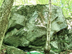 Rock Climbing Photo: Right side of the boulder.  18'-20' Tall, with at ...