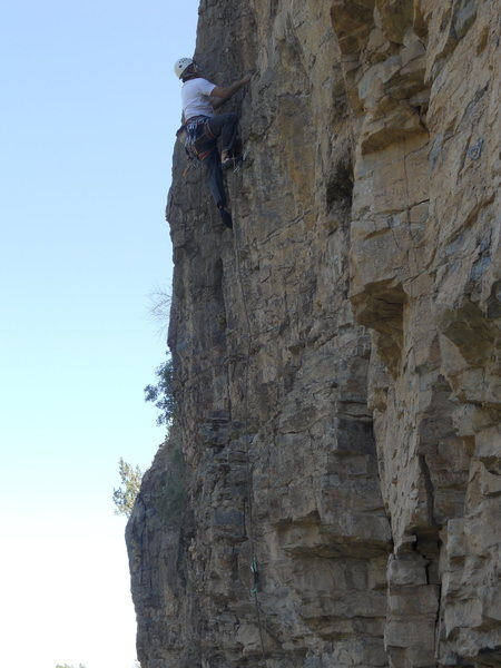 Rock Climbing Photo: Left Cliff rte 1