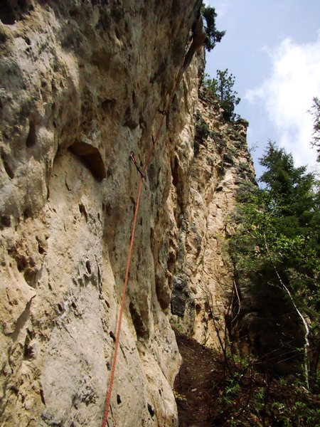 Rock Climbing Photo: Patina Aguilere, 5.10d. Not so bleached blonde roc...