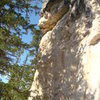 Nightmare on Addie Street, 5.11c/d.<br> <br> Seepy Creepy Wall. Shadowlands.<br> Spearfish Canyon, SD.
