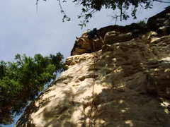 Rock Climbing Photo: A nightmare of a roof pull at the Seepy Creepy Wal...