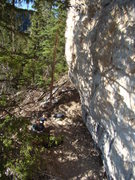 Rock Climbing Photo: A nightmare of a bouldery start. A hairy, scary cl...