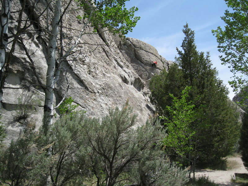 Rock Climbing Photo: My favorite route on the wall, and a easy tick if ...