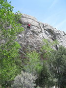 Rock Climbing Photo: A big jump to crimps and jugs is the name of the g...
