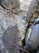 Rock Climbing Photo: We walked a quarter of the way up, than built an a...