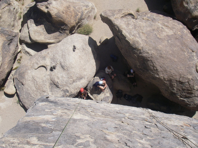 Rock Climbing Photo: The nearby rocks provide convenient shade for bela...