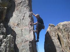 Rock Climbing Photo: Mike Newheart enjoying every minute.