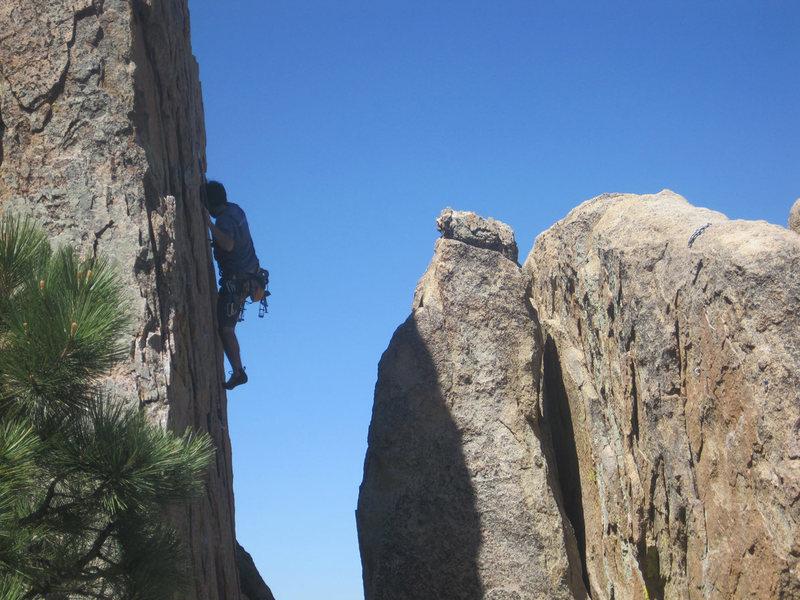 Rock Climbing Photo: Lluis leading.
