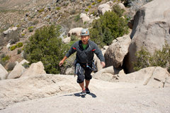 Rock Climbing Photo: Grant at the top of the chimney rock formation in ...