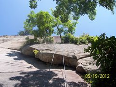 Rock Climbing Photo: set up for top rope