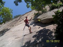 Rock Climbing Photo: me just after sending it!