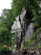 Rock Climbing Photo: Stew and the gang starting up P1 of Turks Head Rid...
