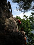 Rock Climbing Photo: A couple of the good ole boys on a casual Sunday s...