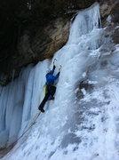 Rock Climbing Photo: Near Munising Falls, February 2012.