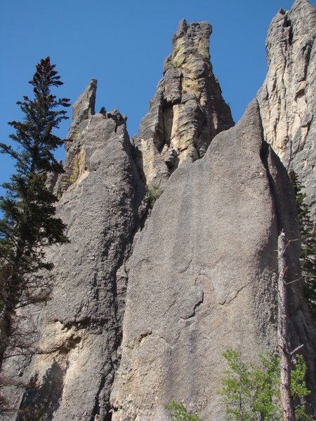 Grace Note Spire.<br> Cathedrial Spires, Needles.<br> Black Hills, SD.