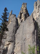Rock Climbing Photo: Grace Note Spire. Cathedrial Spires, Needles. Blac...