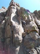 Rock Climbing Photo: Garrett Gillest starting up Unknown Crack (5.7), C...