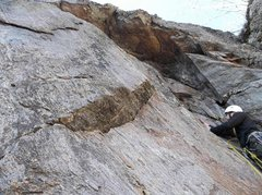 Rock Climbing Photo: Ryan Barber on first ascent
